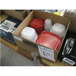 MSIC RUBBERMAID STORAGE CONTAINERS