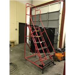 RED 7 STEP WAREHOUSE MOBILE WAREHOUSE STAIRS