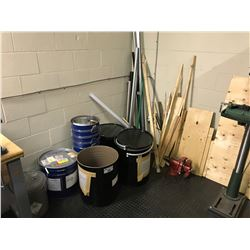 CONTENTS OF CORNER AREA INC. METAL BARRELS, WOOD, PIPES AND MORE