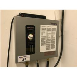 TEMPRA TANKLESS ELECTRIC WATER HEATER WITH ELECTRIC TEMPERATURE CONTROL AND 2 HOSES