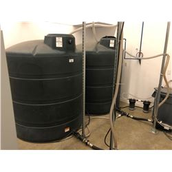 WATER FILTRATION SYSTEM INC. 2 1000 GALLON TANKS, FILTERS, AND ALL CONNECTED WATER HOSE *BUYER