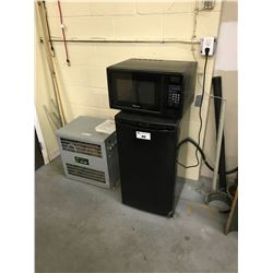 BLACK DANBY BAR FRIDGE AND MICROWAVE