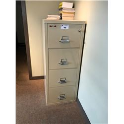 FIREKING 4 DRAWER VERTICAL FIRE PROOF FILE CABINET