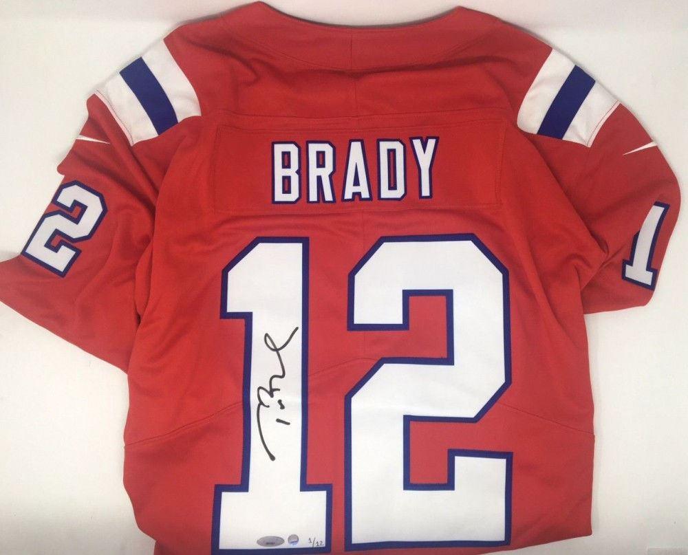 finest selection e673f efbb0 Tom Brady Signed LE Patriots Nike Vapor Elite Red Jersey ...