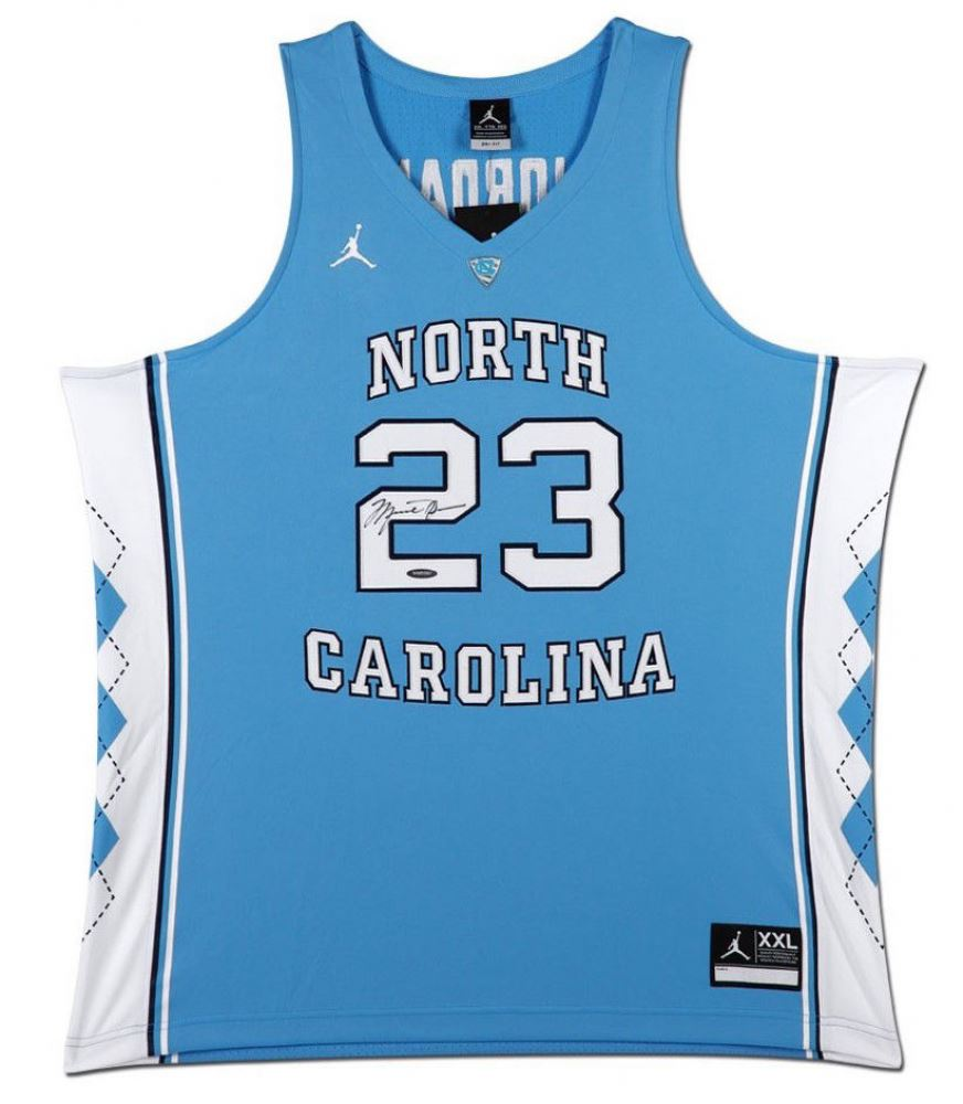 quite nice e24c3 6f1a2 Michael Jordan Signed North Carolina Tar Heels Jersey (UDA ...