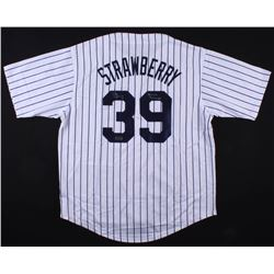 new style f8581 2ecc7 Darryl Strawberry Signed Yankees Jersey Inscribed