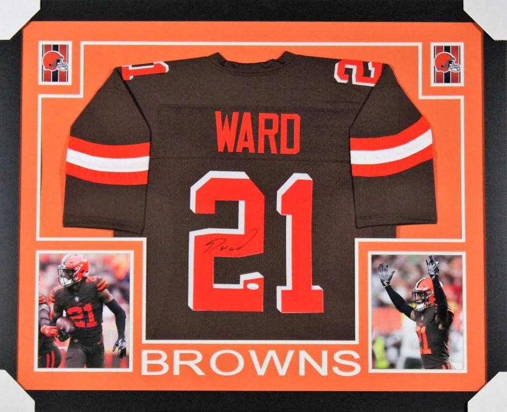 finest selection 0fb7a 7ab57 Denzel Ward Signed Cleveland Browns 35x43 Custom ...