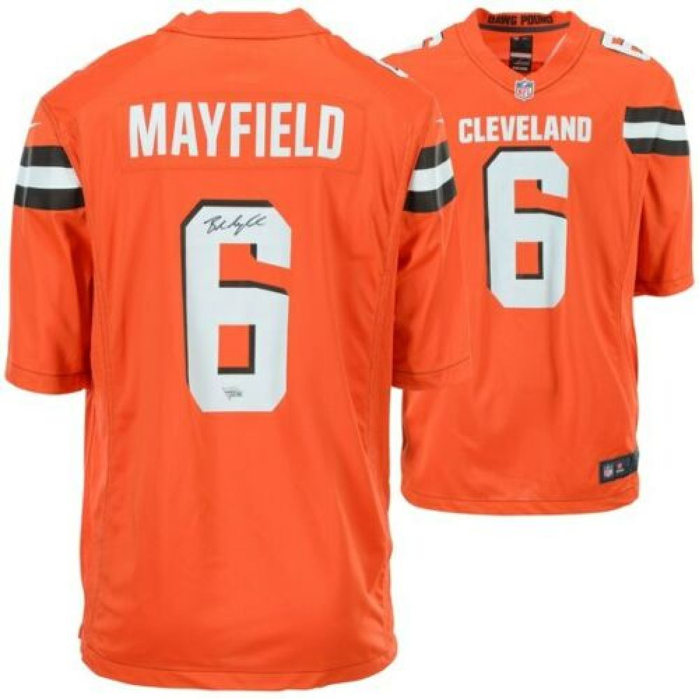 info for d929c 4022c Baker Mayfield Signed Cleveland Browns Nike Jersey ...