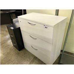 STEELCASE WHITE 3 DRAWER LATERAL FILE CABINET (NON LOCKING)
