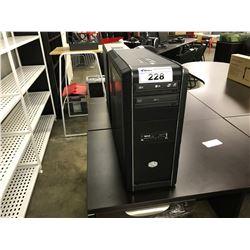 2 DESKTOP COMPUTER CASES AND CONTENTS (NO HARD DRIVES)