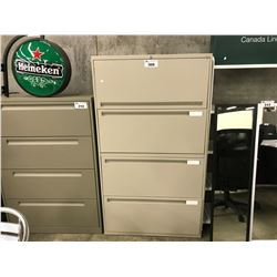 GREY STEELCASE EDP 4 DRAWER LATERAL FILE CABINET
