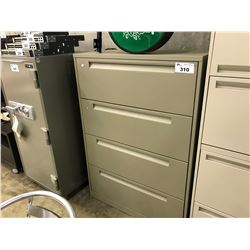 GREY STEELCASE 4 DRAWER LATERAL FILE CABINET