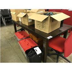 DARK PINE 6'X3' KITCHEN TABLE