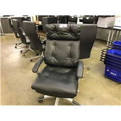 BLACK TUFTED HIGH BACK EXECUTIVE CHAIR