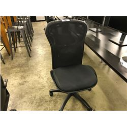 BLACK MESH BACK FULLY ADJUSTABLE TASK CHAIR (NO ARMS)