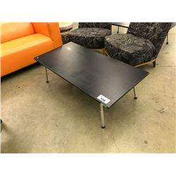 "BLACK 48"" COFFEE TABLE"