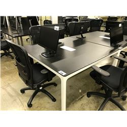 DARK WOOD 5'X5' CONFERENCE TABLE