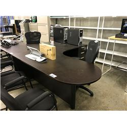 DARK ESPRESSO L-SHAPE EXECUTIVE DESK, RIGHT HAND