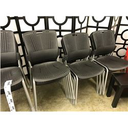 BLACK PLASTIC STACKING SIDE CHAIR