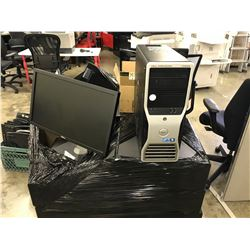 LARGE LOT OF DELL WORKSTATION COMPUTERS AND MISC MONITORS