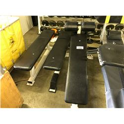 3 BLACK WEIGHT  BENCHES