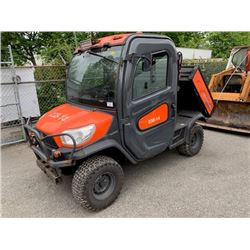KUBOTA RTV-X1100C, ORANGE, DUMP BOX, DIESEL, SERIAL #16054, 2300 HOURS, JAMS IN FWD