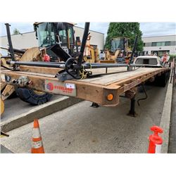 2007 MANAC MODEL 10353A02-07 53' FLATDECK TRAILER, VIN #2M513161X71115722, NEEDS CVIP