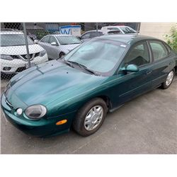 1999 FORD TAURUS, 4DR SEDAN, GREEN, VIN # 1FAFP53U9XG216924