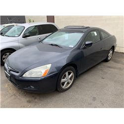 2005 HONDA ACCORD, 2DR COUPE, GREY, VIN # 1HGCM72645A801089