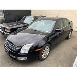 2008 FORD FUSION, BLACK, 4DRSD, GAS, MANUAL, VIN#3FAHP08Z28R225524, 185,206KMS,
