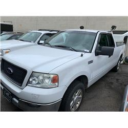 2004 FORD F150, WHITE, GAS, AUTOMATIC, VIN#1FTRX12W24NC00638, 228,341KMS, *MUST TOW, NOT