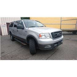 2005 FORD F150 FX4, GREY, GAS, AUTOMATIC, VIN#1FTPW14555FA32701