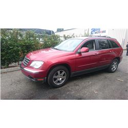 2007 CHRYSLER PACIFICA, RED, 4DRSW, GAS, AUTOMATIC, VIN#2A8GM68X47R173505, 174,878KMS,