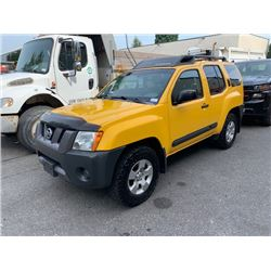 2007 NISSIAN XTERRA, YELLOW, 4DRSW, GAS, AUTOMATIC, VIN #5N1AN08W07C513963, 152,611 MILES, OOC,
