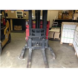 RED RAYMOND EASI 2 STAGE, 3,000LBS, ELECTRIC REACH TRUCK NO CHARGER
