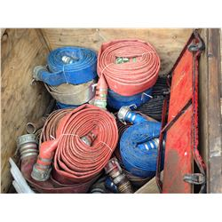 CRATE OF ASSORTED FIRE HOSE