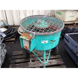 TEAL MOBILE ELECTRIC CEMENT MIXER