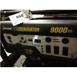 XSTREAM 9000 WATT GAS POWERED GENERATOR WITH BREAKER BOX