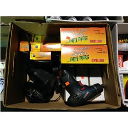 BOX OF SAFE LITE FIRE STARTERS, BOSCH DRILL & ECOFAN MOTOR REPLACEMENT KIT