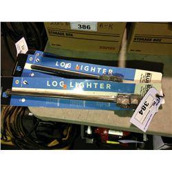 SET OF BLUE FLAME LOG LIGHTERS