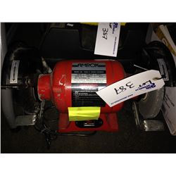 BENCH GRINDER, ELECTRIC ANGLE GRINDER, 3 BOXES OF ASSORTED TOOLS & HARDWARE, RADIO & MANUAL PUNCH