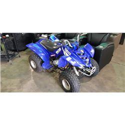 2001 YAMAHA BLUE, GAS POWERED CHILDRENS QUAD, VIN#JY4AB02W22C000548, NO REGISTRATION