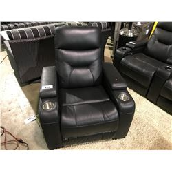EMPIRE BLACK LEATHER POWERED RECLINING THEATER ARM CHAIR