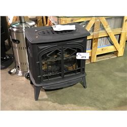 """PACIFIC ENERGY TRENTON BLACK 15"""" X 25"""" X 30"""" FREE STANDING CAST IRON GAS FIRE PLACE"""