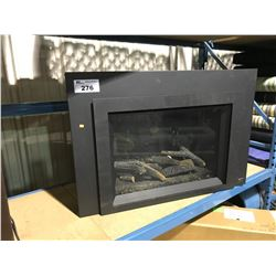 """PACIFIC ENERGY BLACK 35"""" X 24"""" VENTED GAS FIRE PLACE INSERT"""