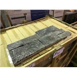 CRATE OF GREY 16X6 LEDGER WALL STONE