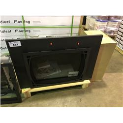 PACIFIC ENERGY BLACK GAS FIREPLACE INSERT WITH LOG SET