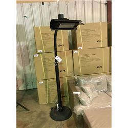 PARAMOUNT MS-1500WOIRPH BLACK POLE MOUNTED INFRARED ELECTRIC PATIO HEATER