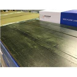 GOLDLEAF WIDE PLANK 12065-2 LEGION EBONG EBONY GLUELESS LAMINATE FLOORING