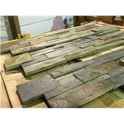 CRATE OF LEDGESTONE SBRZEL0624 6X24 GREY HORIZONTAL SLATE WALL STONE